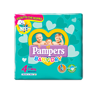 Pampers Baby Dry 4 Maxi  19 pz
