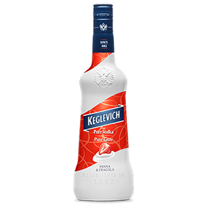 Vodka Keglev Panna e fragola  70 cl